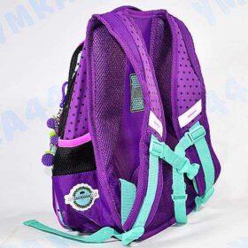 Портфель-рюкзак школьный фиолетовый с совушкой