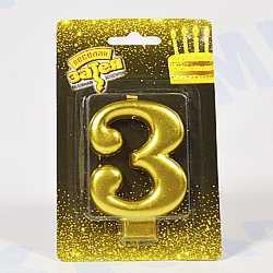 свеча-цифра 3