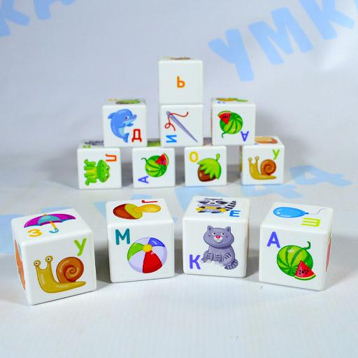 Кубики для умников Азбука 12 шт.