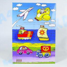 Пазл-рамка Транспорт для малышей 6 эл.