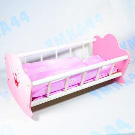 Кровать для куклы деревянная Мэри Поппинс арт.67115