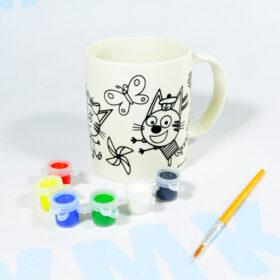 Набор для росписи Кружка керамическая Три кота