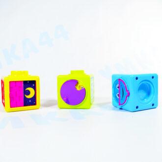 """Развивающие кубики """"Учим цифры и буквы"""" 3 шт. УМКА"""