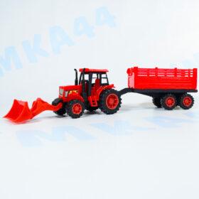Трактор с ковшом и прицепом. Handers 32 см.