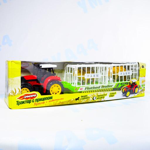 Трактор с прицепом: Трейлер с животными. Handers (51 см)
