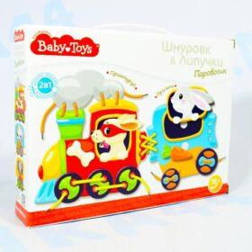 Шнуровка и липучки Паровозик Baby Toys арт.02926