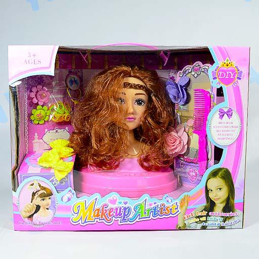 Кукла-манекен для создания причесок с аксессуарами арт.19888023