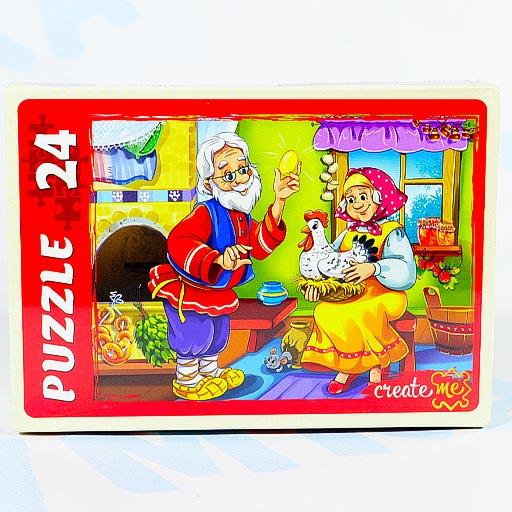 """Пазл """"Русская народная сказка"""" 24 элемента, Рыжий кот"""