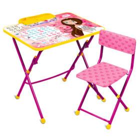 Nika Комплект КУ2П/17 Маленькая принцесса (стол+стул)