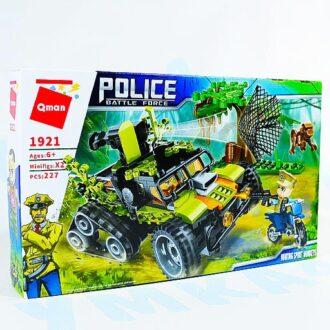 """Конструктор Qman """"Полиция с фигурками"""", 227 деталей"""