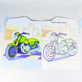 """Раскраска """"Мотоциклы"""" посмотри и раскрась"""