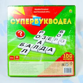 """Настольная игра """"Супербукводел"""" 100 фишек Рыжий кот"""