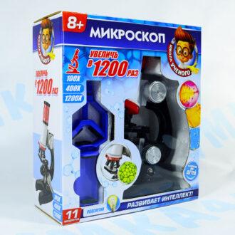 """Микроскоп с подсветкой+насадка для смартфона """"Школа ученого"""""""