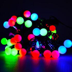 Гирлянда с небьющимися лампами 10м Цвет микс