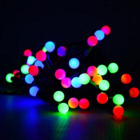 Гирлянда с небьющимися лампами 8м Цвет микс