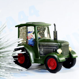 Светильник новогодний Трактор с эффектом снегопада, подсветкой и мелодией