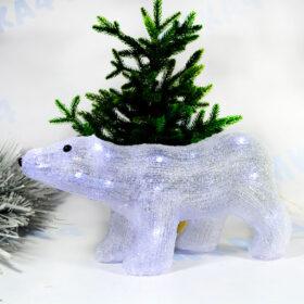 Фигурка световая Белый медведь 38 см