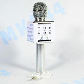 Беспроводной караоке-микрофон DS868 серебро