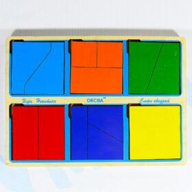 Игры Никитина Сложи квадрат 1 уровень сложности