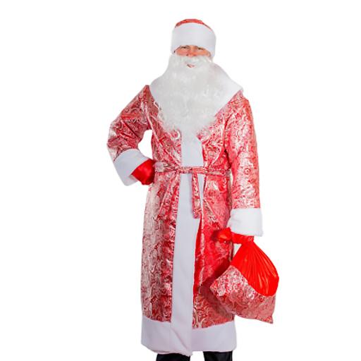 Взрослый новогодний костюм Дед Мороз Красный, 44-48 размер