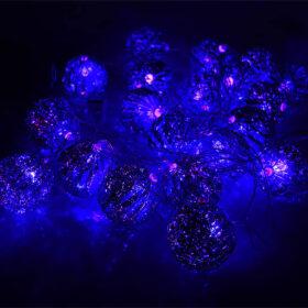 Гирлянда Синие фонарики, 20 шаров