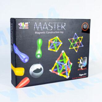 Магнитный конструктор Магнитные формы, 63 детали