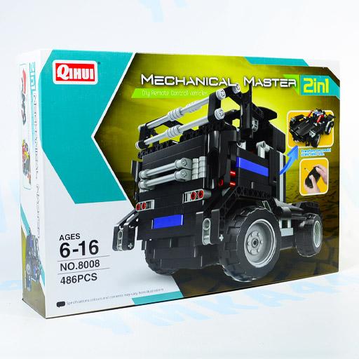 Конструктор QIHUI Mechanical Master 2 в 1, на р/у, 486 дет.