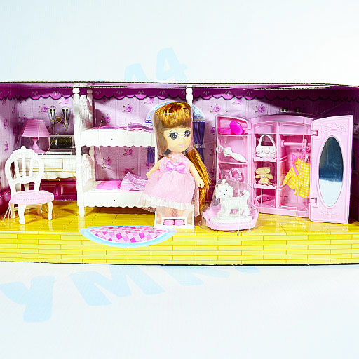 """Набор мебели """"Спальня с куклой"""" Арт. 1896014"""