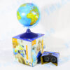 Интерактивный глобус Земли физико-политический, с подсветкой, 21 см, очки в комплекте