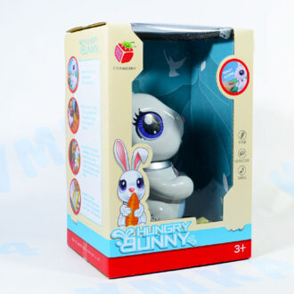 Интерактивный кролик (свет, звук, кушает бумажную еду)
