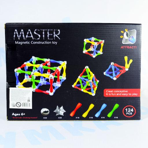 Магнитный конструктор Магнитные формы, 124 детали