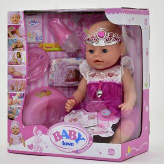 Интерактивная кукла пупс Baby Love с аксессуарами, 40 см