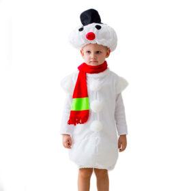 Маскарадный костюм Снеговик 122-134 см