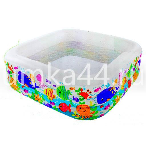 """Детский надувной бассейн 159х159х50 см """"Аквариум"""" 340 л, от 3 лет (Intex 57471)"""