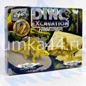 Игра для проведения раскопок 2 скелета динозавров
