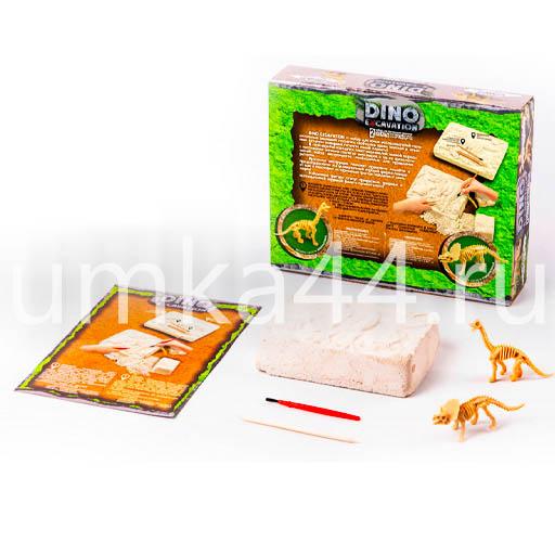 Игра для проведения раскопок 2 скелета динозавров DEX-01-01