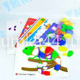 Радужные камешки. Набор с карточками заданиями, A4