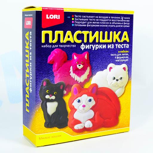 "Набор для творчества LORI Фигурки из теста ""Милые кошки"""