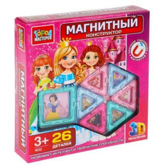 Магнитный конструктор набор для девочек 26 дет., Город мастеров